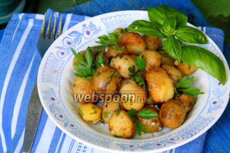 Фото Жареный молодой картофель