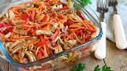 Фото рецепта Острый салат с баклажанами и морковью