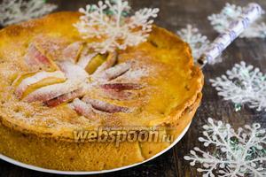 Яблочный пирог в сливочной заливке