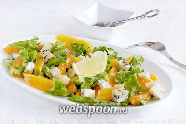 Фото Зимний салат с апельсином