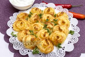 Закусочный картофель «Розочки»