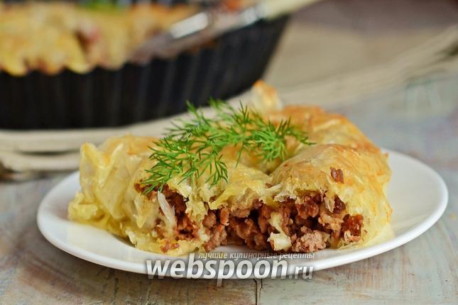 Фото Пирог из теста фило с мясным фаршем