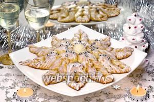 Пирог «Волшебная снежинка»