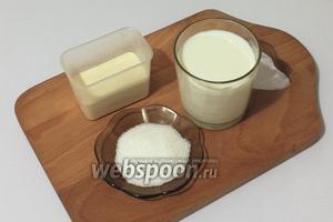 Для приготовления каши в мультиварке нам понадобятся крупа манная, молоко, вода, соль, сахар и сливочное масло.