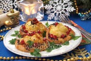 Картофельные горки с рыбным филе