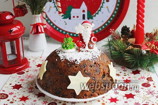 Фото Рождественский кекс-пудинг