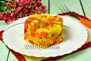 Тартар из форели и манго