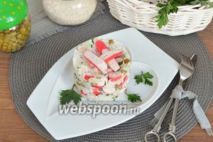 Рис с крабовыми палочками