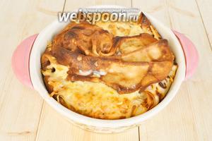 Готовый пирог остудить и подавать. Из указанного количества продуктов получается 2 пирога диаметром 20 см.