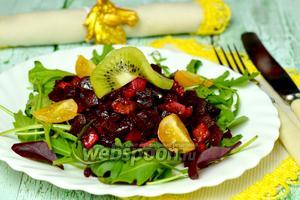 Салат из свёклы с киви