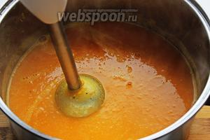 Половину супа, пюрировать.