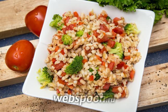 рецепт перловка с овощами