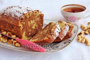 Двухцветный кекс с фундуком