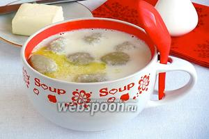 Молочный суп с картофельными клёцками