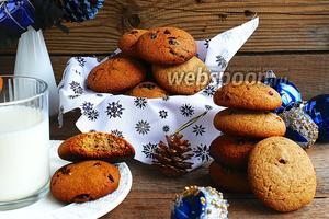 Овсяно-ржаное печенье с клюквой