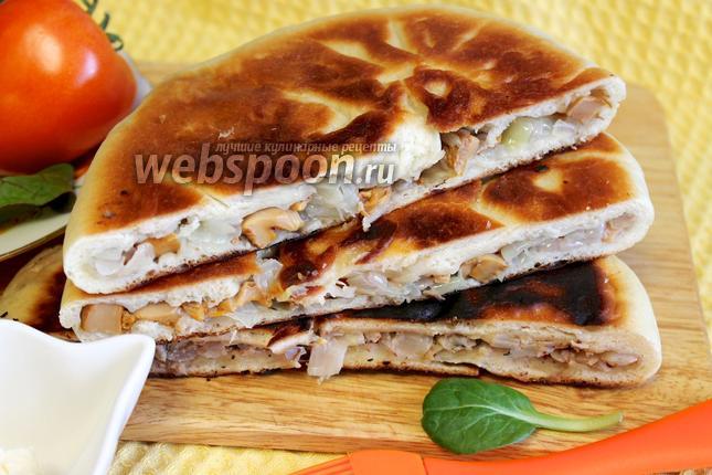 Фото Осетинский пирог с тушёной капустой