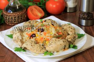 Курица с рисом и мексиканской смесью в мультиварке