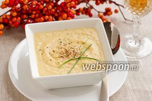 Суп-пюре из лука-порея и репы