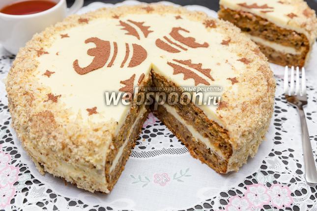 Фото Пряный морковный пирог