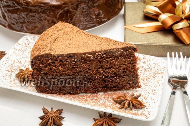 Фото Шоколадный пирог с глазурью