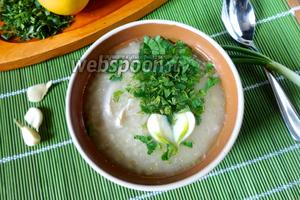 Крестьянский суп с пшеном