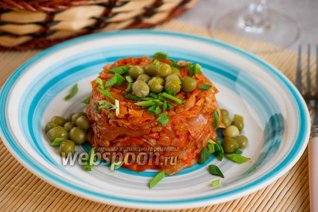 Фото Рис с овощами и капустой