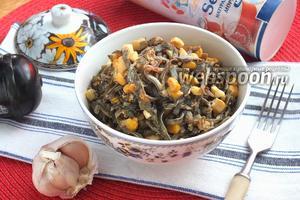 Салат из морской капусты с икрой масаго