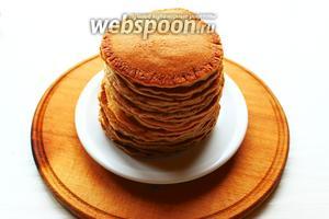 Сложить панкейки стопочкой и подавать с карамельными яблочками. Всё! Вкусного вам утра!