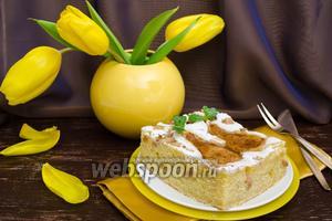 Ароматный грушевый пирог на йогурте