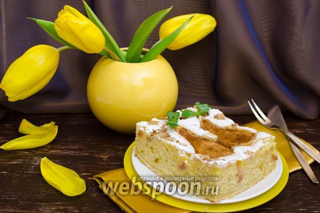 Фото Ароматный грушевый пирог на йогурте