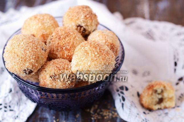 Фото Кокосовое печенье с изюмом
