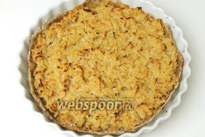 Выпекаем в заранее разогретом духовом шкафу при 220°С около 25-30 минут. Немного остудим и сервируем «стройный» яблочный пирог достаточно тёплым. Приятного аппетита!
