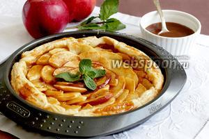 Яблочный пирог с солёной карамелью