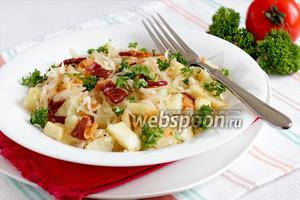 Пикантный картофельный салат с беконом