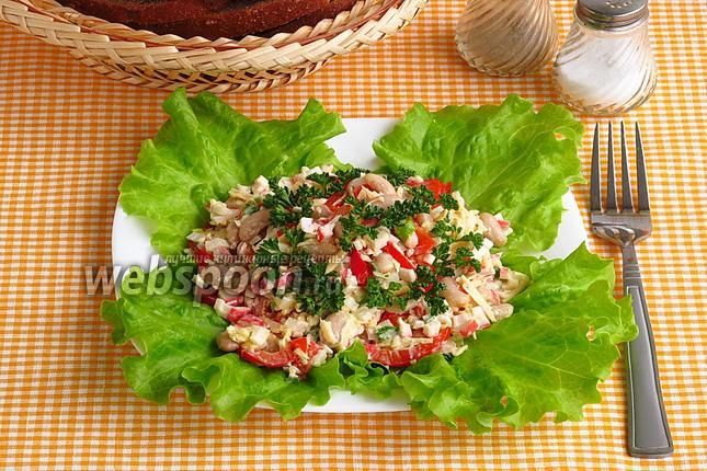 Фото Салат из фасоли с овощами
