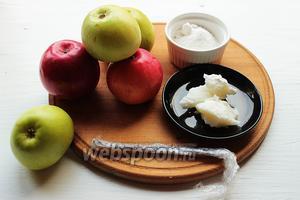 Для «шёлкового» яблочного пюре, надо: яблоки (вкусные, кисло-сладкие), кокосовое масло (охлаждённое), чуть меньше половины стручка ванили, сахарная пудра по вкусу (я не добавляла).