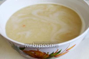 Суп протереть, можно с помощью блендера.