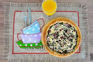 Пицца с папоротником