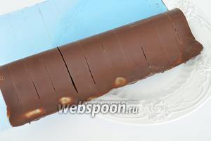Когда шоколад застынет, снимем файл.
