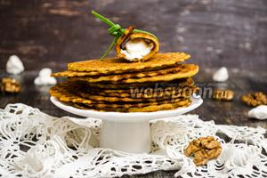 Вафли из кукурузной муки с орешками