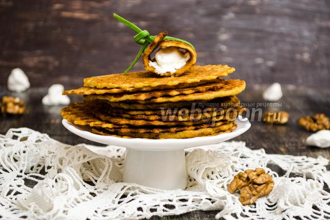 Фото Вафли из кукурузной муки с орешками