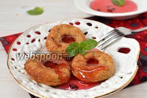 Постные яблочные пончики