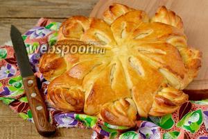 Дрожжевой пирог с зефирными прослойками