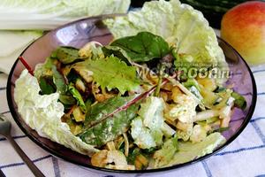 Салат из микса с кукурузой