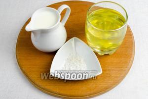 Подготовить белковую смесь: белок, молоко, соль, перец молотый.