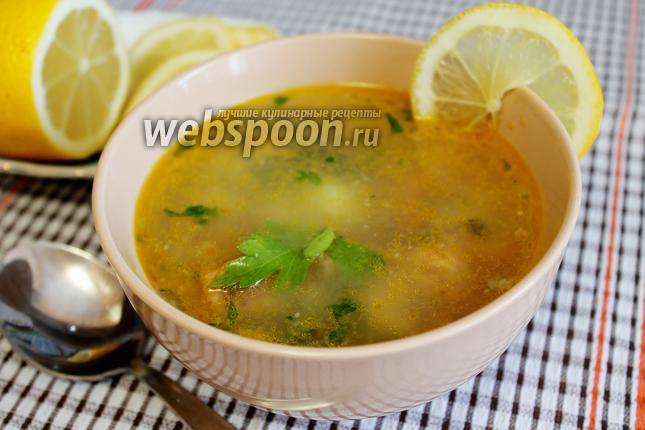 Фото Суп с консервированной горбушей