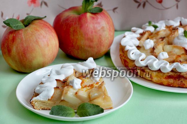 Фото Яблочный пирог на творожном тесте