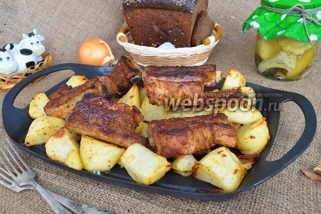Фото Свиные рёбра с картошкой