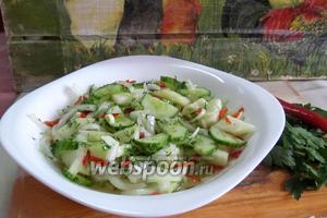 Салат в медовом маринаде