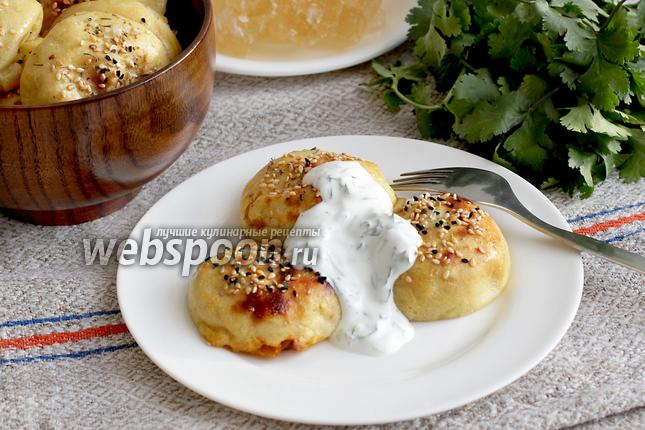 Фото Зразы картофельные с капустой из духовки